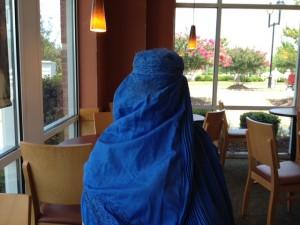 dee in a burka