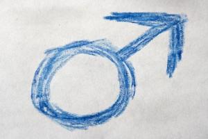 http://www.photos-public-domain.com/2011/03/27/blue-crayon-drawn-male-gender-sign-or-symbol/