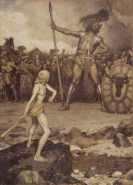http://en.wikipedia.org/wiki/File:Osmar_Schindler_David_und_Goliath.jpg