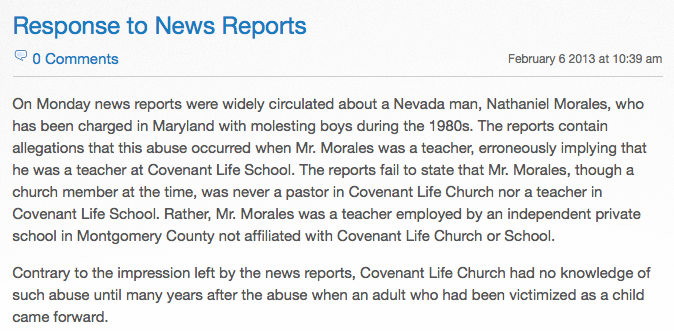 http://www.covlife.org/blog/response_to_news_reports