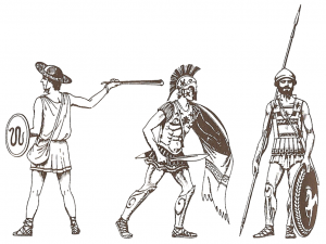 http://en.wikipedia.org/wiki/Shield#mediaviewer/File:Greek_soldiers_of_Greco–Persian_Wars.png