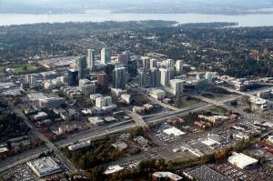 http://commons.wikimedia.org/wiki/File:Aerial_Bellevue_Washington_November_2011.jpg