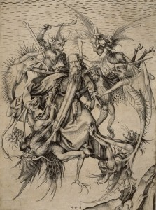 More details St. Anthony plagued by demons, engraved by Martin Schongauer in the 1480s.