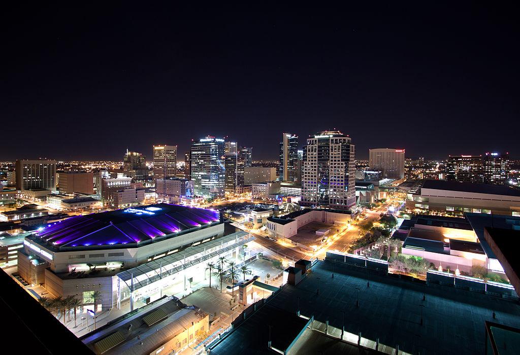http://en.wikipedia.org/wiki/Phoenix,_Arizona#mediaviewer/File:Downtown_Phoenix_Skyline_Lights.jpg