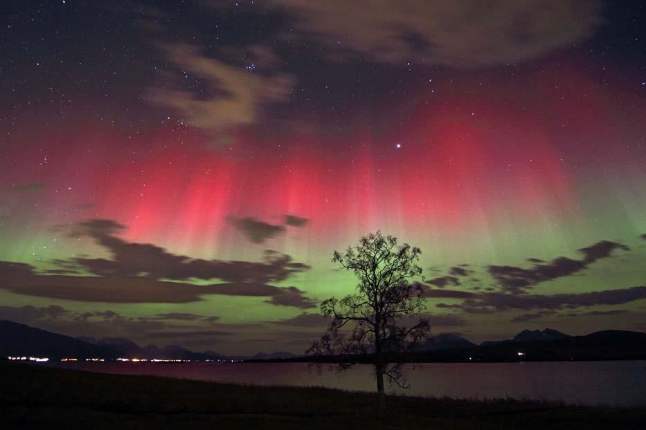 http://en.wikipedia.org/wiki/Aurora#mediaviewer/File:Red_and_green_auroras.jpg