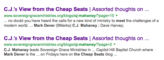 http://www.bing.com/search?q=cj+mahaney+and+meet+mark+dever+and+a+view+from+the+cheap+seats&qs=n&form=QBRE&pq=cj+mahaney+and+meet+mark+dever+and+a+view+from+the+cheap+seats&sc=0-30&sp=-1&sk=&cvid=961f7748d43a40d89bfd301d032b0435