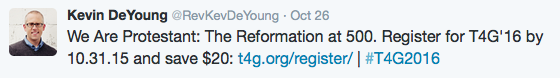 Kevin DeYoung's Twitter