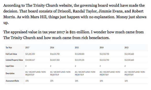 http://www.patheos.com/blogs/warrenthrockmorton/2016/07/02/mark-driscolls-the-trinity-church-buys-a-million-dollar-mid-century-modern-home/