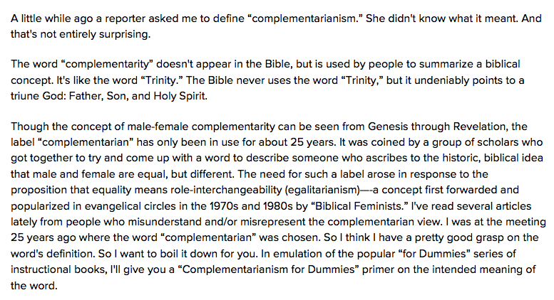 History Of Complementarianism Part 1 The Wartburg Watch 2019