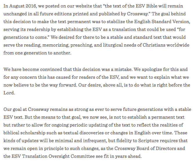 https://www.crossway.org/blog/2016/09/crossway-statement-on-the-esv-bible-text/