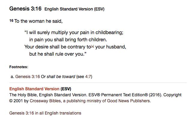 https://www.biblegateway.com/passage/?search=Genesis+3%3A16&version=ESV