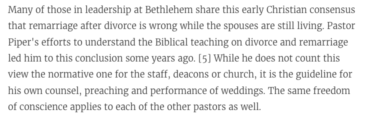 http://www.desiringgod.org/articles/a-statement-on-divorce-remarriage-in-the-life-of-bethlehem-baptist-church