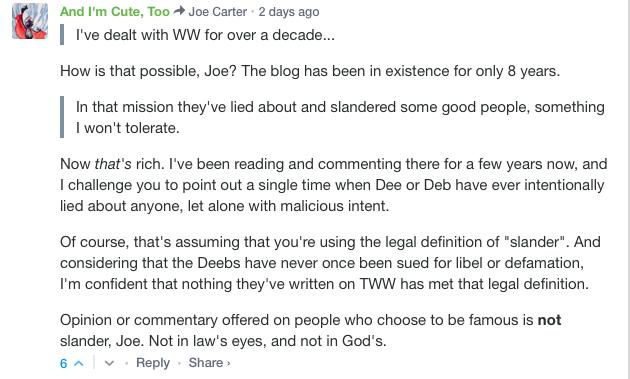 TWW Responds To Joe Carter Editor For The Gospel Coalition Who - 25 people regret lying social media