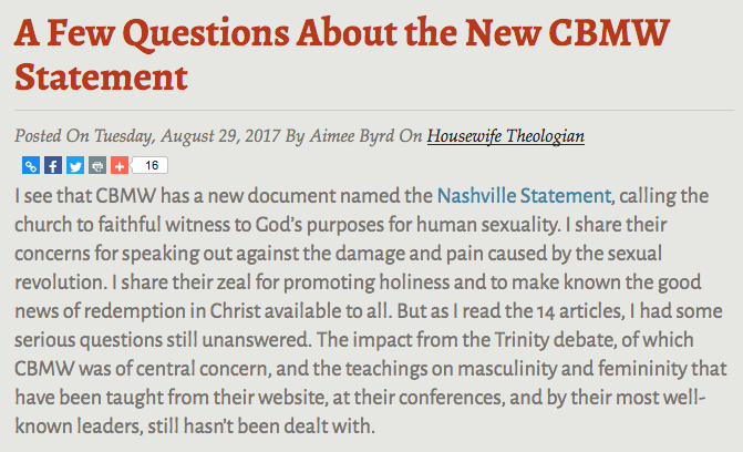 http://www.alliancenet.org/mos/housewife-theologian/a-few-questions-about-the-new-cbmw-statement?utm_content=bufferf44a1&utm_medium=social&utm_source=facebook.com&utm_campaign=buffer#.WaYbLIqQwUu