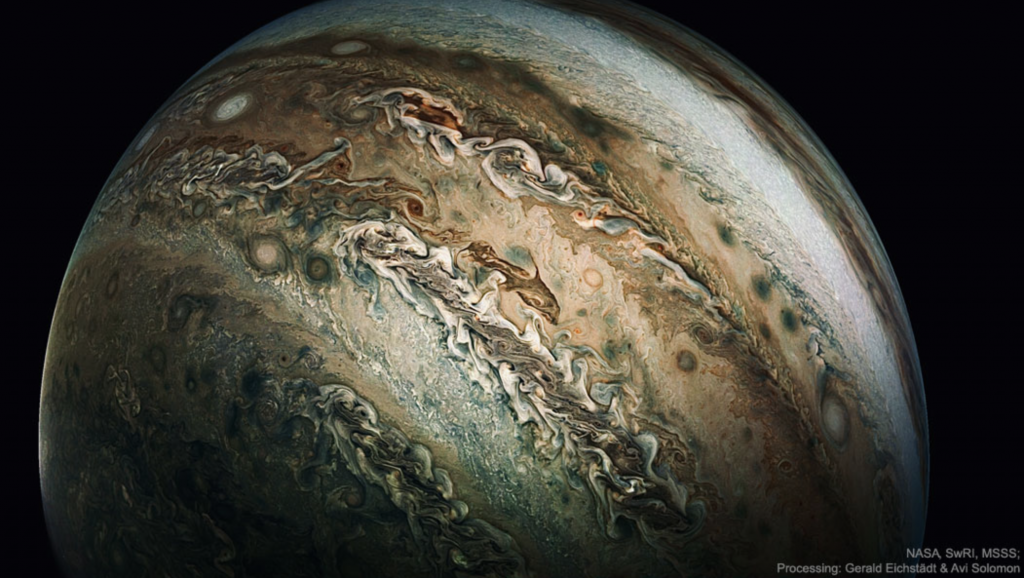 enhanced dolphin cloud on Jupiter